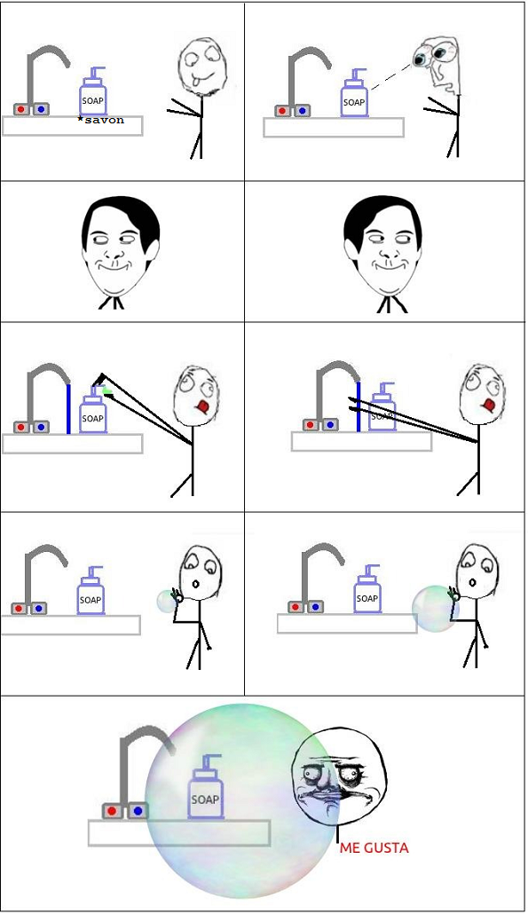 Joujou avec le savon