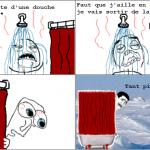 Bonne douche chaude