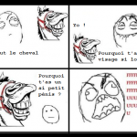 Cheval qui troll