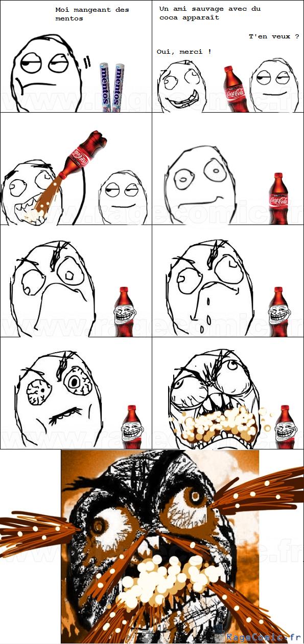 Mentos + Coca