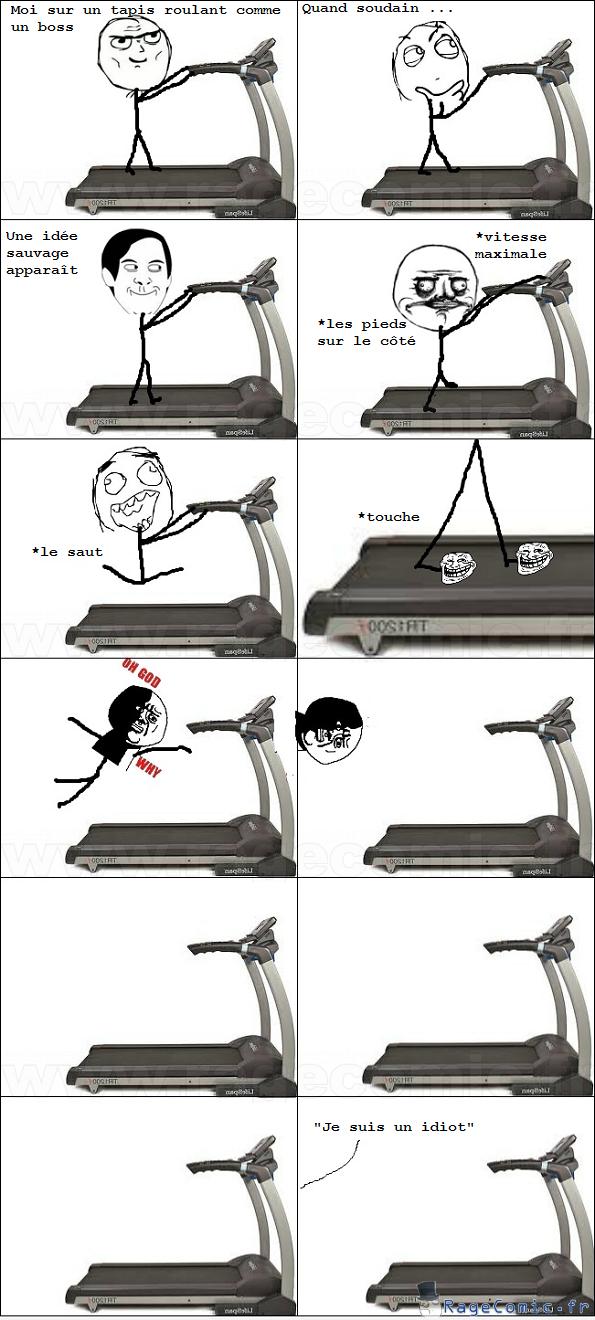Troll sur tapis roulant