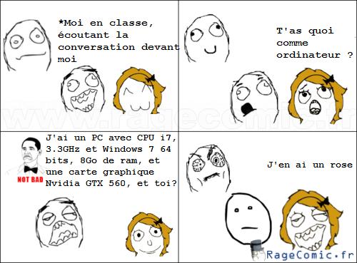 Parler pc avec une fille