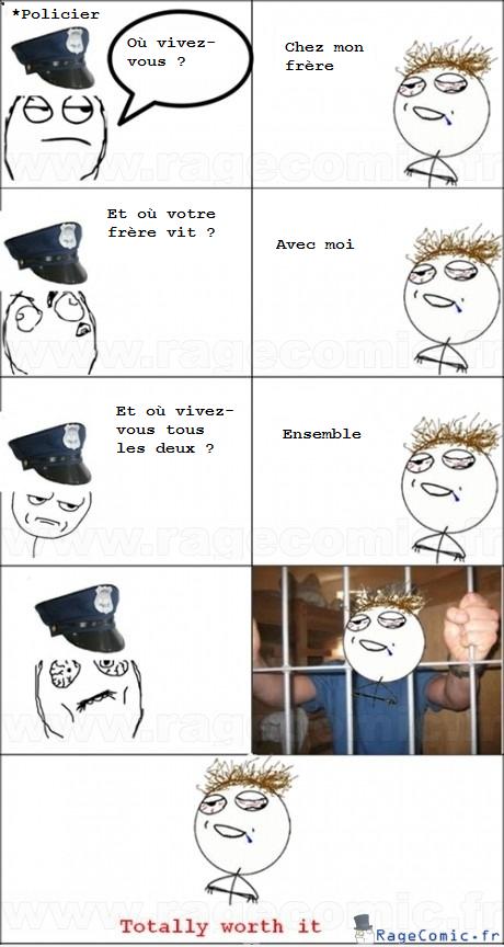 Prendre un policier pour un c...