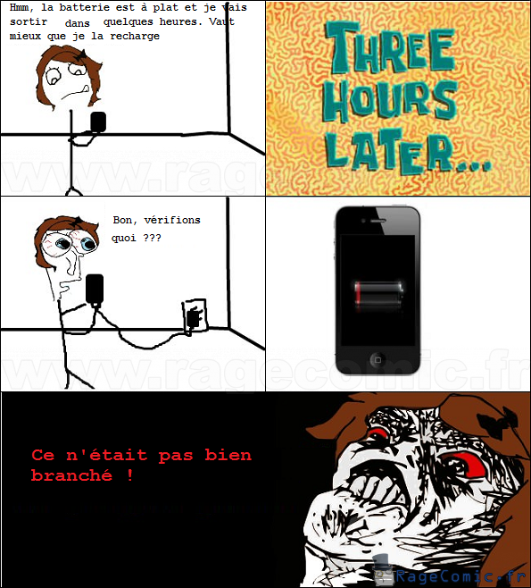 Batterie iPhone rage