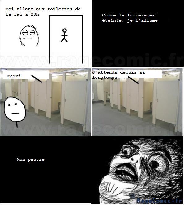 Seul aux toilettes