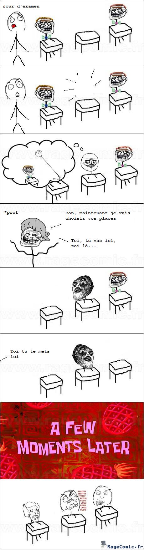 Tricher dans un examen