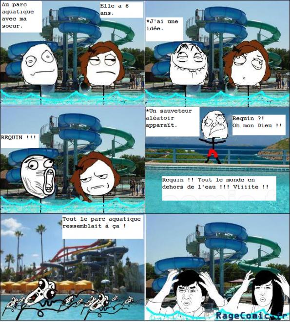 au parc aquatique