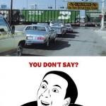 Ne pas rouler dans le train