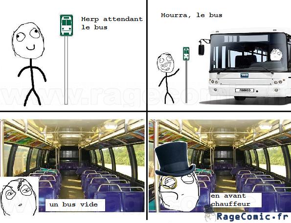A l'arrêt de bus