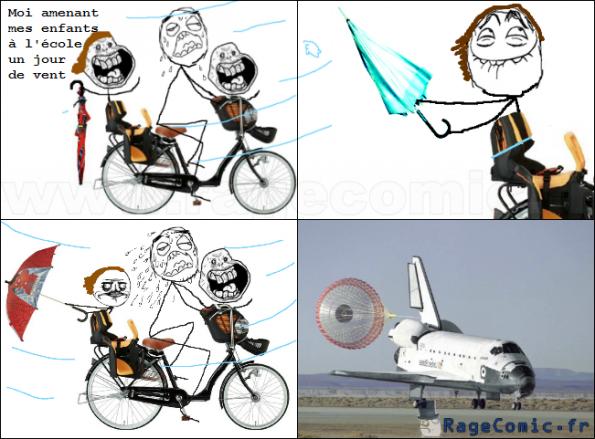 Enfants qui trollent en vélo