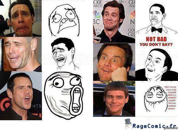 Jim Carrey rage faces