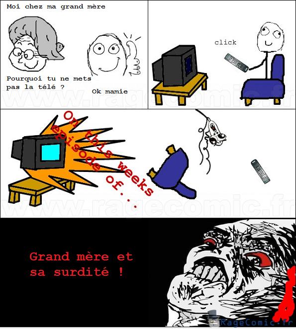 La télé de grand mère