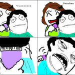 cheveux en bataille challenge accepted rage comics francais troll face. Black Bedroom Furniture Sets. Home Design Ideas