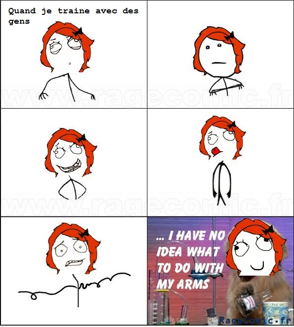 Que faire avec ses bras