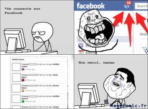 Des amis sur Facebook !