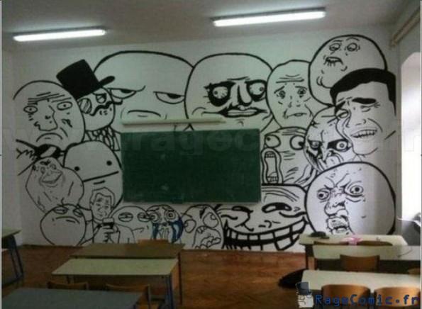Salle de classe rage faces