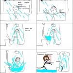 J'aimais les rideaux de douche