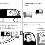 Crétin en voiture