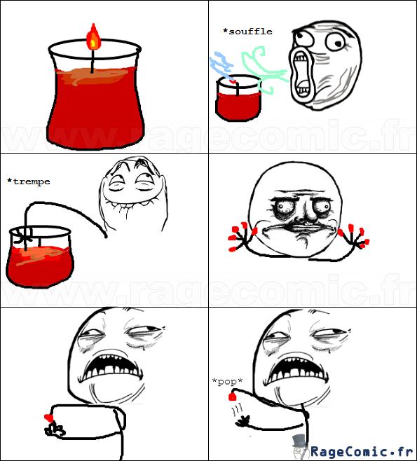 Les joies d'une bougie