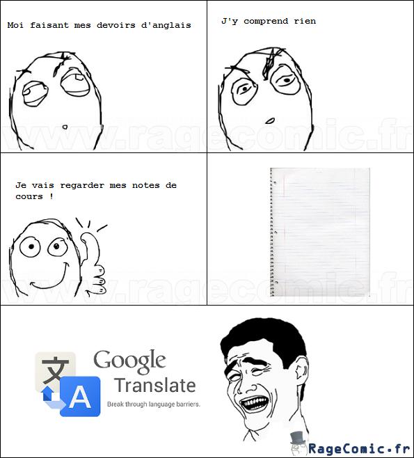 Problèmes d'anglais