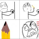 Rage tailler son crayon