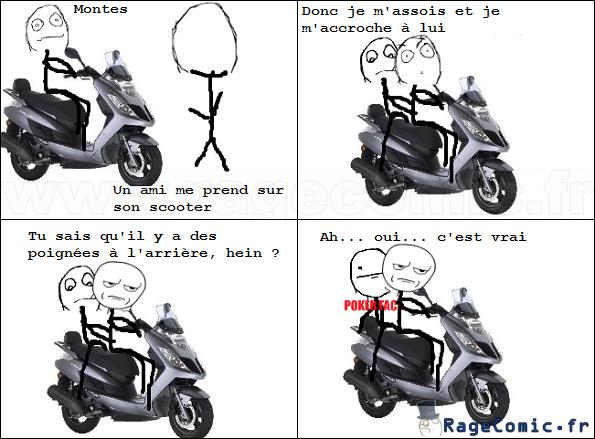 Ma première expérience de scooter