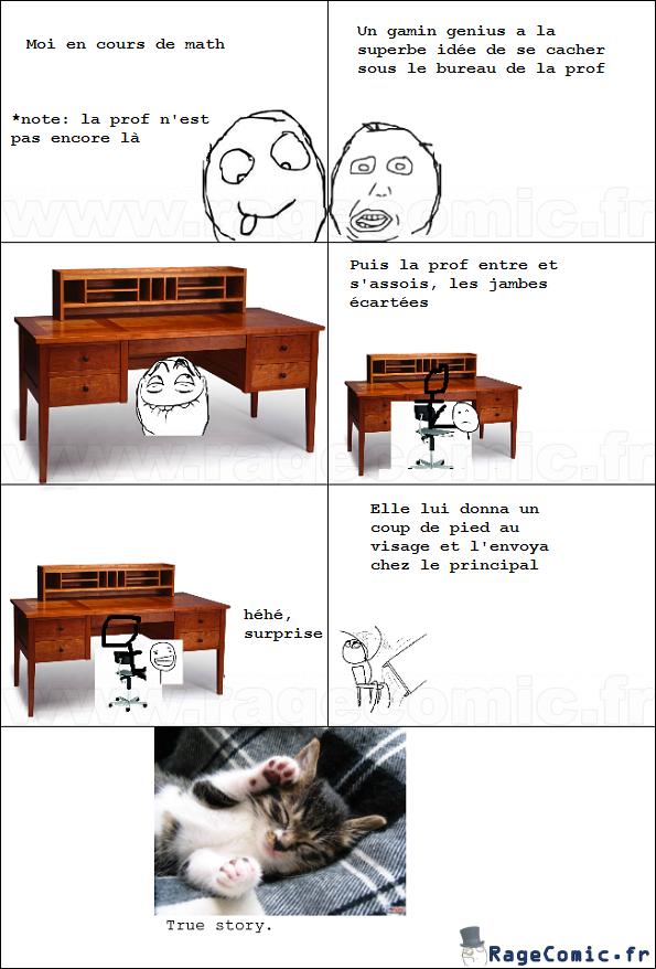 Sous le bureau
