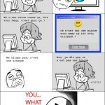 Ma grand mère sur l'ordinateur