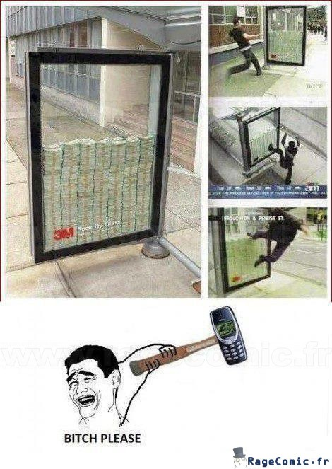 Pub pour des vitres blindées