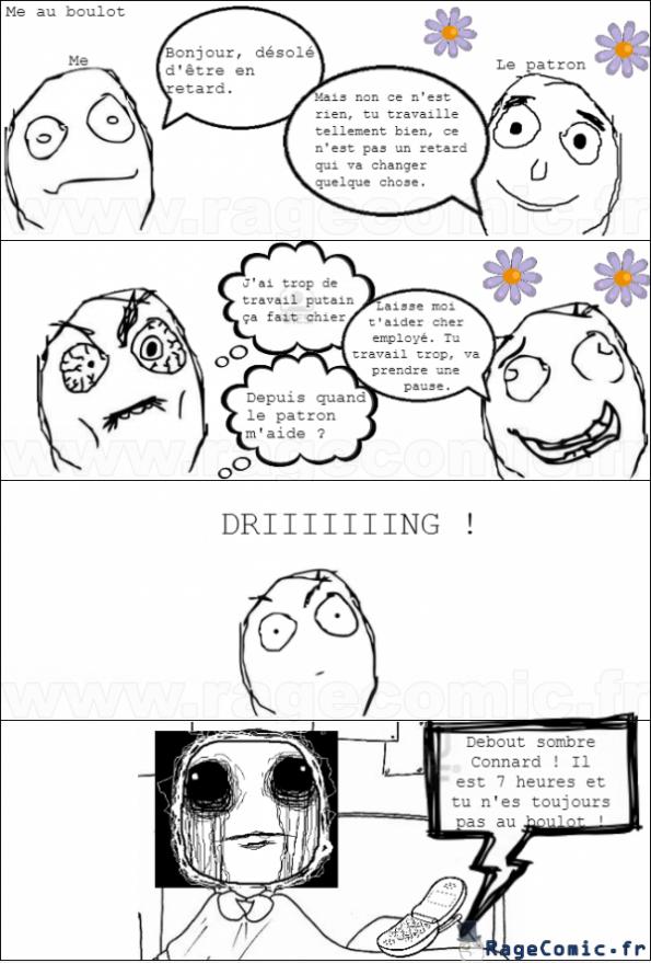 Patron trop sympa