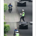 Motocycliste Trolleur