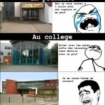 La fin des cours