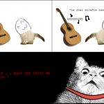 Le chat qui parlait à une guitare