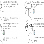 Le portable quand on marche