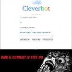 Cleverbot connait ragecomic.fr :O