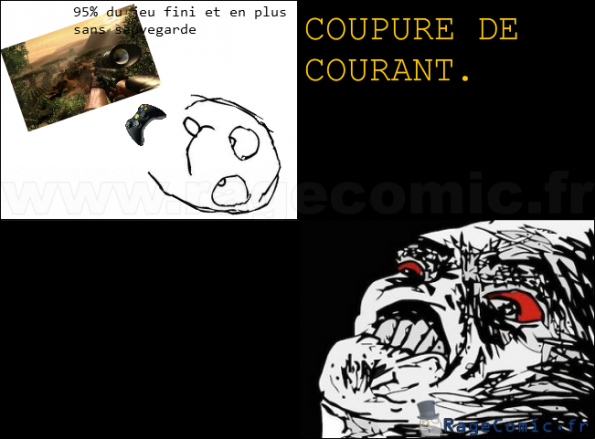 Coupure de courant oh crap rage comics francais troll face - Coupure de courant congelateur ...