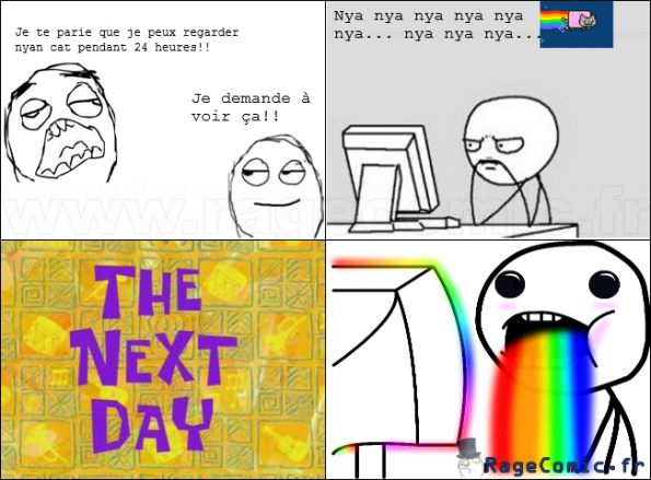 nyan forever - Challenge accepted - Rage Comics Francais ...