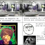 Justin Bieber en t-shirt
