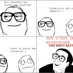 Les lunettes...