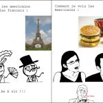Vision des Français VS Américains
