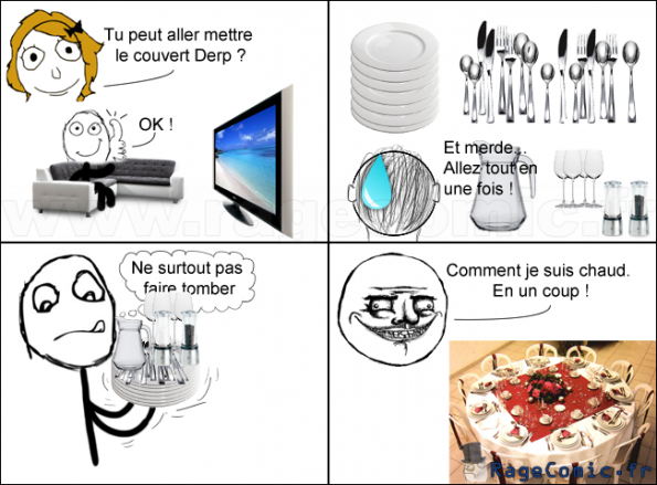 mettre le couvert me gusta rage comics francais troll face. Black Bedroom Furniture Sets. Home Design Ideas