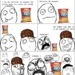Ne jamais emmener un paquet de chips à l'école !