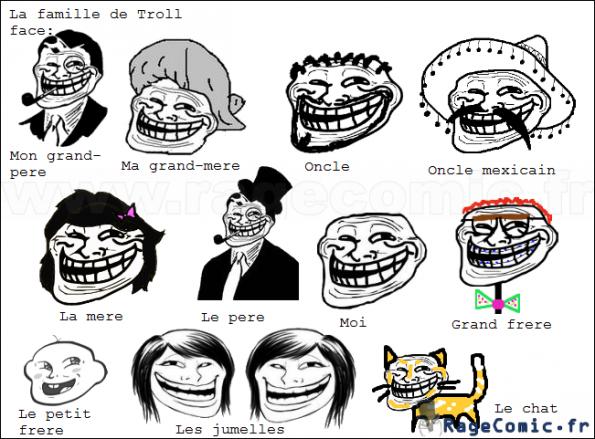 La famille de Troll Face