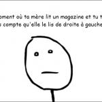 les magazines...