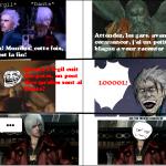 Dante de devil may cry se fait troller.