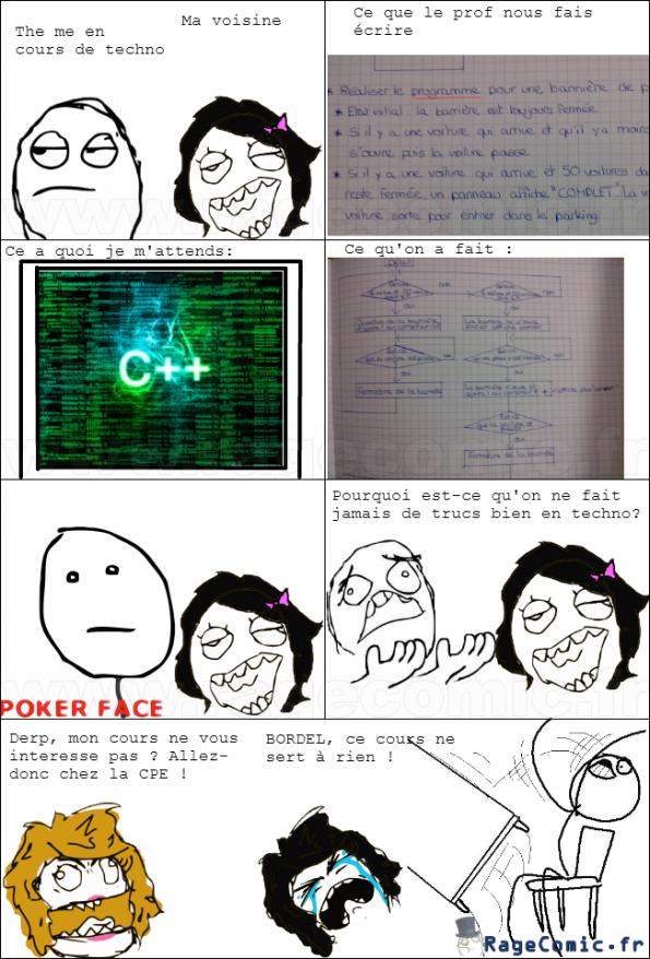 Les cours de techno...