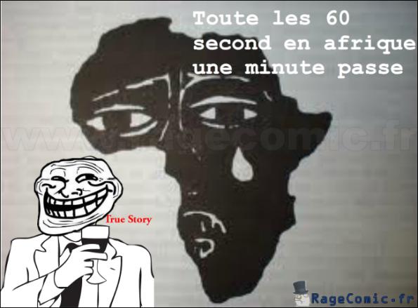 Toute les 60 second en afrique