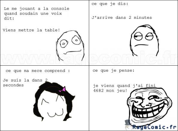 Mettre la table...