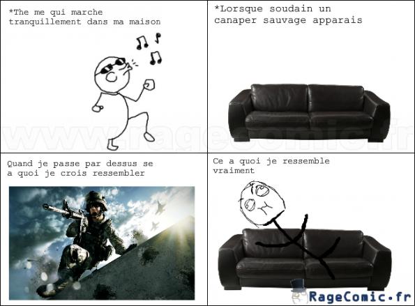 Le saut du canapé