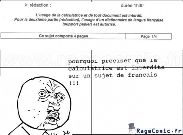 Sur les sujets de français...